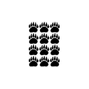 Bear Paw Print Decals 12 3 great for wall or car
