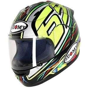 Suomy Excel Capirossi Helmet   Medium/Sky Blue Automotive