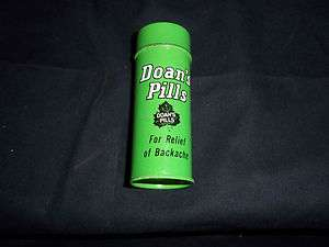 EMPTY TIN GREEN PILL BOTTLE   CLASSIC BACK PAIN RELIEF !