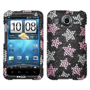 Falling Stars Beling Diamante Protector Cover Case for HTC
