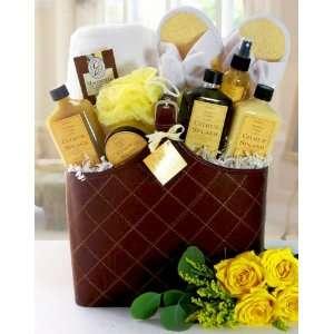 Valentines Day Invigorating Spa Citrus Splash Gift Basket