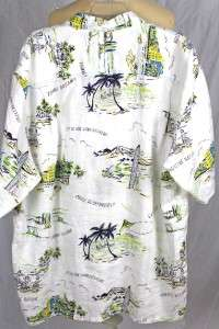 TOMMY BAHAMA WALKING BREEZER WHITE LINEN CAMP SHIRT NWT EXTRA LARGE XL