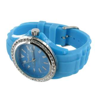 NIB NEON BLUE STRETCHY ILLUMINOUS TOY GIFT CHEAP WATCH