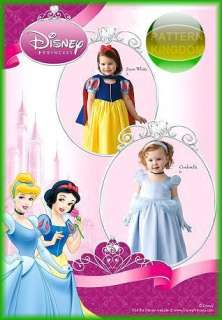 Disneys Snow White Cinderella Costume Patterns Toddlers