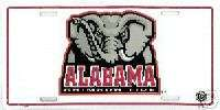 Brand New Alabama Tide ELEPHANT BAMA License Plate NCAA