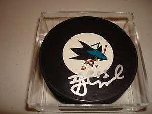 James Sheppard Signed San Jose Sharks Hockey Puck Autographed #2