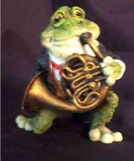 Drummer Drum Frog Player Figurine music 4 X 3 New
