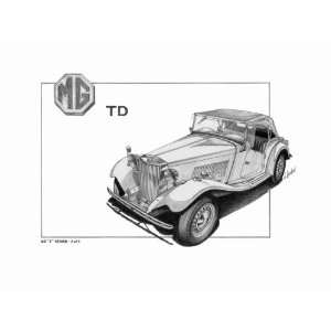 Mg Td Pencil Sketch: Home & Kitchen