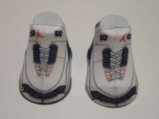 Nike Air Jordan Retro 3 Infant Booties Socks 0 6M WHITE/ CEMENT GRAY