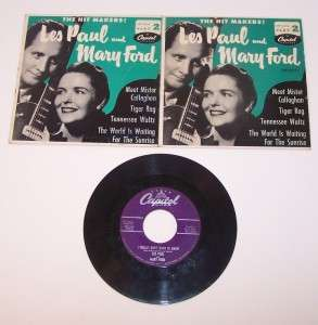 Les Paul 45 Vinyl Record Mary Ford Lot of 3