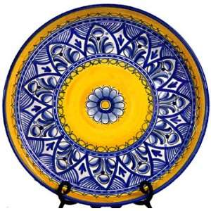 Ceramic Serving Plate from Spain. Fiesta Yellow