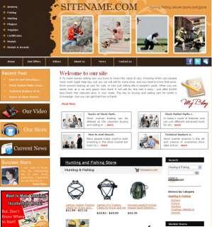 Established Hunting Fishing Accessories website 4 Sale