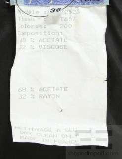 Thierry Mugler Black Jeweled Cutout Long Sleeve Dress Size 36
