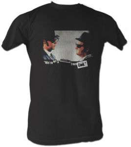 THE BLUES BROTHERS MISSION MENS TEE SHIRT S 2XL