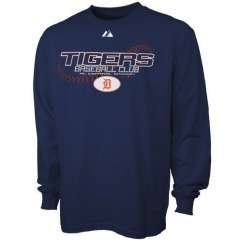 Detroit Tigers Youth On the Ball Navy Long Sleeve T Shirt by Majestic