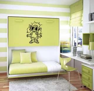 WALL VINYL STICKER ART MURAL CRAZY GEEK COMPUTER B857