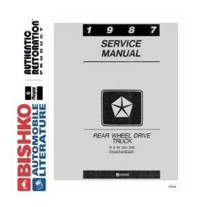 1987 DODGE PICKUP TRUCK & RAMCHARGER Service Manual CD Automotive