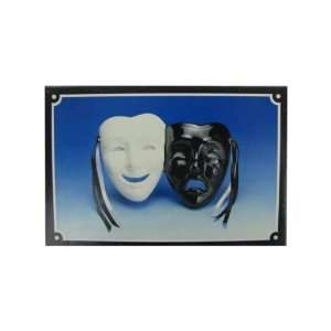 Smile And Cry White And Black Mask Wall Hanging: Everything Else