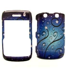 BlackBerry Bold 9700 Cover Case Blue Star Swirls Onyx II 9780  Smore