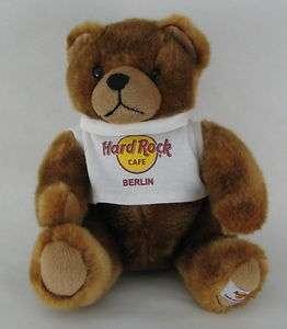 Hard Rock Cafe Berlin Germany Plush Stuffed Animal Teddy Bear Tshirt T