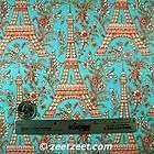 Michael Miller~EIFFEL TOWER~TURQ Red Paris Fabric /Yd.