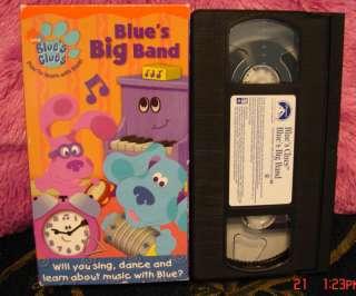 Blues Clues BLUES BIG BAND~Video VHS~ $2.75 to SHIP 097368754638