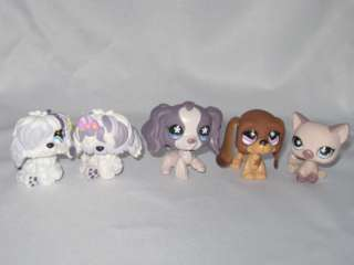 Littlest Pet Shop Puppy Twin Dog Cat Figures Toys