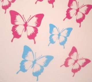 PINK Butterflies Removable Wall / Car Stickers Nursery Art