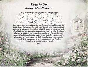 Sunday School Teacher Prayer Poem Personalized Name Art