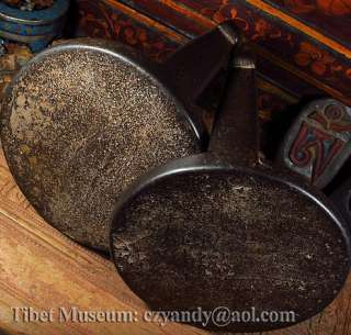 Wonderful Amazing Pair Old Antique Tibetan Noble Silvered Iron Stirrup