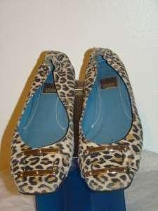 Biala Womens Leopard Print Flats Slip On Shoes 7.5M