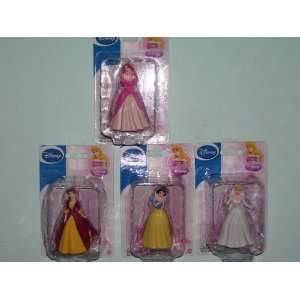 Disney Princess Figurines Cinderella & Belle & Ariel & Snow White