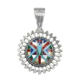Roderick Tenorio Sterling Silver Multi Gemstone Inlay Sun