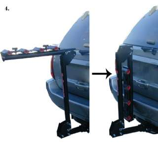 BIKE CARRIER RACK BICYCLE FOLDING 2 HITCH SWINGS DOWN FOLDS UP