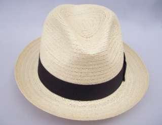 Biltmore Palmyra Straw Fedora Dress Hat w/Black Band