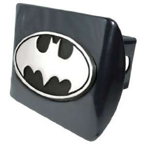 Batman Black & Chrome Trailer Hitch Cover with Oval Batman Seal