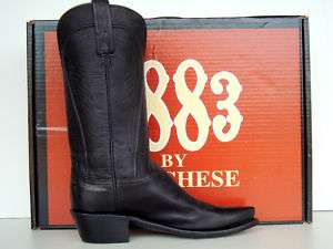 Lucchese 1883 Womens Black Burnished Ranch Hand Boots