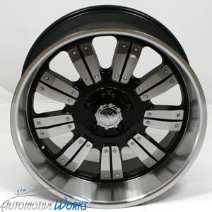 18x9 Edge Mech 8x170  12mm Black Machined Wheels Rims Inch 18