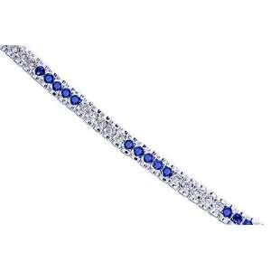 Bold and Beautiful Round Cut Created Sapphire & White CZ