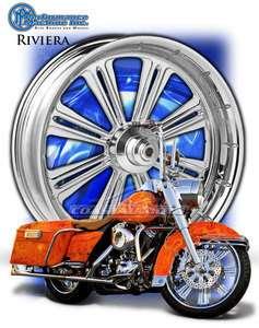 Machine Riviera Chrome Motorcycle Wheel Harley Streetglide BLEM