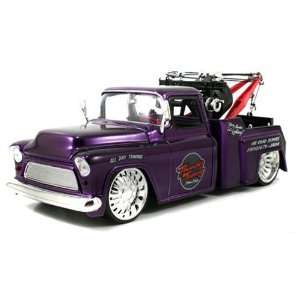 1955 Chevy Stepside Tow Truck 124 Scale (Purple) Toys