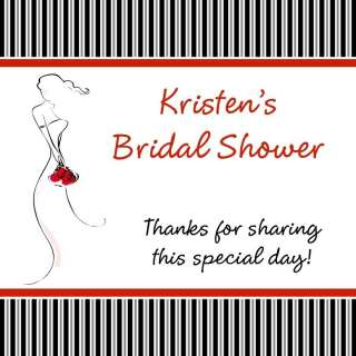 Bridal Shower BLUSHING BRIDE Favor/Gift Tags RED