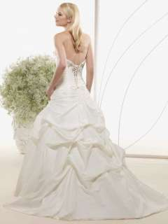Scoop Ivory Custom Bridal Wedding Dress/Gown Size Free NEW♥