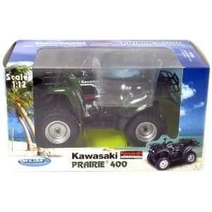 Die cast Metal ATV Kawasaki Prairie 400 1/12 Scale (7
