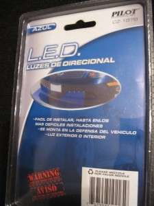 NEW BLUE LED GRILLE LIGHTS KIT 4 PACK CAR SUV GRILL 12V