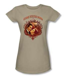 Licensed Warner Bros. Gone With The Wind Classic Romance Junior Shirt