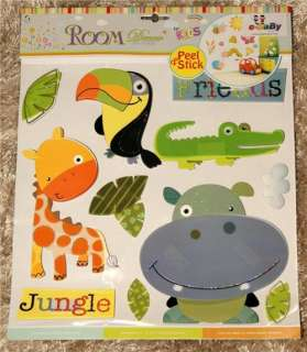 Childrens/Kids/Girls/Boys Bedroom JUNGLE ANIMAL Wall/Furniture