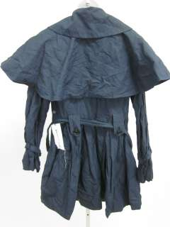 NWT SWEETFACE Navy Blue Belted Rain Jacket Coat Sz 8