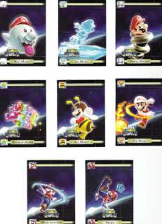 Nintendo Super Mario Galaxy Stand Up Card Set of 8 Wii