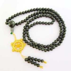 6mm 108 Jasper Stone Beads Tibetan Buddhist Prayer Japa Mala Jewelry